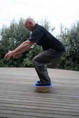 rockerboard squat